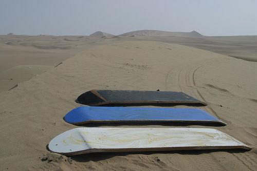 Sandboard, el riesgo de las dunas del desierto
